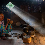 Old woman in her kitchen, Myanmar     © Stephan Stamm