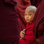 Novice monk at the full moon festival in Bagan, Myanmar     © Stephan Stamm