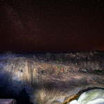 "The Augrabies Falls or ""the place of big noises"" at night (South Africa)     © Stephan Stamm"