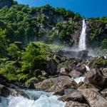 Waterfall La Cascata di Foroglio, Val Bavona, Ticino (Switzerland)     © Stephan Stamm