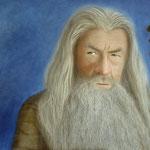 Gandalf - Acryl auf Karton - 100*60cm 2014 - verkauft