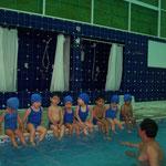 Natación en todos los grados incluido en el programa educativo