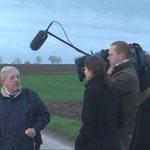 WDR-Interview in der Morgendämmerung