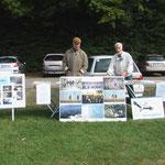 Infostand gegen die Jagd am Staubecken Herzogenrath