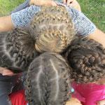 Hobbygruppe Haare flechten: Und hier das Ergebnis.