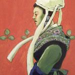 alain robet femme de Plougastel acrylique sur toile