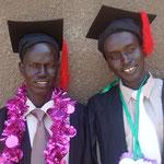 Angach en Benjamin afgestudeerd aan het SSOC.