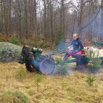 Wo immer es passt, kommt der Holder zum Einsatz. Diesmal transportieren wir alles Gerät und die Pflanzen für..