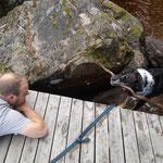 ...da geht der Urmel gerne baden und sucht ein Stöckchen, das der Michel dann werfen muss, weil die Judith da zu dösig zu ist. ;-)