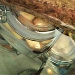 .. ohne Saft einkochen = fertig zum späteren Backen eines Apfelkuchens.