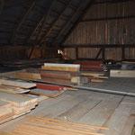 Holzlager von oben.
