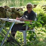 Anne hält sie gleich auf dem Papier fest. Sie hat in diesem Urlaub vier tolle Bilder gemalt, die ich hier gerne irgendwann zeigen werde.