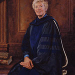 "Mary Patterson McPherson, President, Bryn Mawr College - oil on linen 48""x36"" (portrait in oil)"