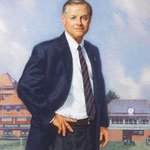 "John Thatcher, President, The Merion Cricket Club, Merion, Pennsylvania - oil on linen 36""x28"" (portrait in oil)"