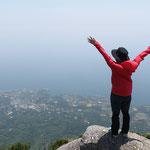 モッチョム岳ツアー、屋久島の海岸線が真上から見渡せる絶景!