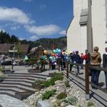 Alles ist für den Ballonwettbewerb des Pfarreirates bereit