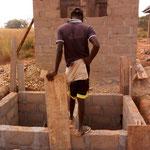 Bauarbeiten an der Toilette
