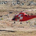 ...landete der Helikopter auf der Alp Languard.
