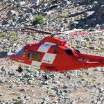 Nach wenigen Minuten hob der Helikopter wieder ab...
