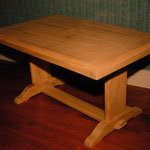 Table basse merisier naturel