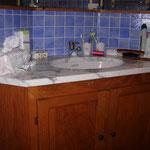 Meuble salle de bain marbre de Carrare