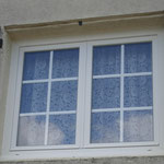 Fenêtre avec petit bois incorporé au verre