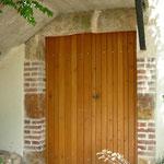Porte pleine à lames chêne double battant