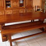 Variante table et bancs monastère