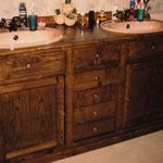 Meuble de salle de bain frêne
