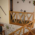 Croisée médiévale chêne retour de rampe