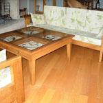 Table basse à tiroirs présentoir