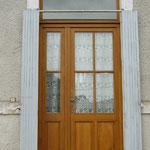 Porte tiercée vitrée grande taille
