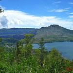Blick auf den Vulkan Gunung Batur