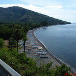 Blick von der Küstenstraße im Osten Balis