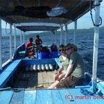 Katharina und Martin auf dem Weg zu Menjangan Island