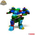 Blocks World Variety Dinosaur K19A-2+4+6+7