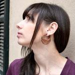 Wooden Swan Tribal Earrings OGE-001