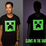 Minecraft Creeper Glow in the Dark Premium Tee マインクラフトクリーパーフェイスグローインザダークTシャツ