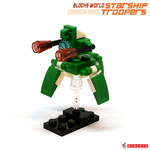 Blocks World Space War Starship Troopers K28A-4A