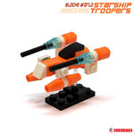 Blocks World Space War Starship Troopers K28A-2A