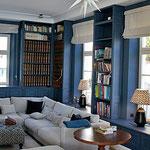 Bibliothek, klassische Bauweise,  Oberfläche Pinselstrich matt
