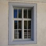 Mique, jüdisches Bad in A-Hohenems Kastenfenster Detail