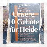"""Titel der Broschüre """"Unsere 10 Gebote"""" von Edgar Huhn"""