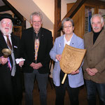 Altmarktmeister Heinrich Schulz, Walter Volkers, Dr. Telse Lubitz, 1. StadtratOlof Paulsen