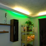 Indirektes Licht mit Venezianische Spachteltechnik im Wohnzimmer, Achern
