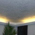 Spachteltechnik Lichtvoute Wohnzimmer