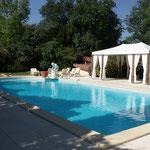Angle gauche piscine