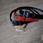 colliers pour chiens sur-mesure, réalisation à l'ancienne, couture main point sellier, N'anima Cuir ©