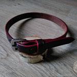 collier pour chien sur-mesure, réalisation à l'ancienne, couture main point sellier, N'anima Cuir ©