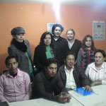 Socorro, Rosa Hilda, Avi, Yolis, y Coty, sentados, Julian, Ivan, ElLic,Mendez y la Dra. Tere Carmona.